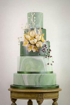 find singles trend/cake-trend-alert-marbled-wedding-cake-made-with-satin-ice-sara_paris_torte_c/ people junge mädels sexy Diy Wedding Cake, Floral Wedding Cakes, Elegant Wedding Cakes, Elegant Cakes, Beautiful Wedding Cakes, Wedding Cake Designs, Wedding Cake Toppers, Green Wedding Cakes, Beautiful Cakes