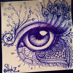 "Gefällt 379 Mal, 12 Kommentare - steph diaz zahalka (@stephalynnd) auf Instagram: ""Tuesday morning #ballpointpen #eyedrawing for your viewing pleasure. #penart #doodle #zentangle…"""