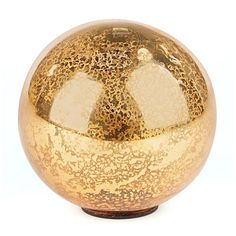 Glisten Gold Vintage Glass Ball at Big Lots.