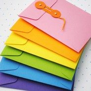 편지봉투 만들기~끈 장식이 멋스런 예쁜 편지봉투..(편지봉투도안)