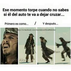 Read Jack Sparrow from the story Memes by saz_wppm with reads. Funny Spanish Memes, Spanish Humor, Funny Images, Funny Photos, Memes Humor, Funny Jokes, 9gag Funny, Johnny Depp, Best Memes