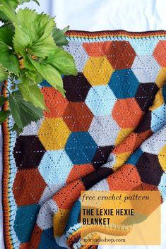 Hexagon Crochet Pattern, Afghan Crochet Patterns, Crochet Stitches, Knitting Patterns, Baby Blanket Patterns, Free Crochet Afghan Patterns, Free Crochet Patterns For Beginners, Modern Crochet Patterns, Modern Crochet Blanket
