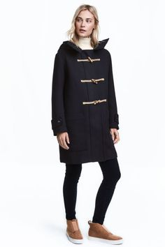 Wool-blend duffel coat