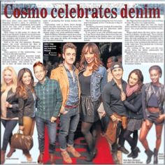 The Cosmopolitan Magazine Denim event Cosmopolitan Magazine, Tv On The Radio, Denim, Celebrities, Model, Movie Posters, Celebs, Film Poster, Jeans
