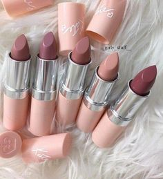 Drugstore lipsticks from Rimmel, perfect nude and mauve lip colors for all skin tones. #Lipcolors