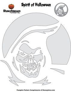 Flaming Skull Stencil | Free Stencil Gallery in 2019 ...