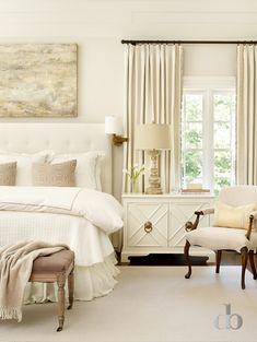 Jessica Bradley - although this neutral pallet would be very impractical for me, it is a lovely bedroom.