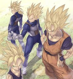 e4ca9efcb06c Sayain Warriors Goku, Gohan, Vegeta, & Trunks Japanese Anime Series, Dragon  Ball