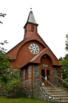 Rock Church in Sitka, Alaska, St. Peter's by the Sea...go around back, even the back is gorgeous!