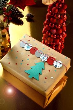Gifts Wrapping Ideas For Christmas Presents 63 Ideas Christmas Gift Wrapping, Christmas Tag, Diy Christmas Gifts, Christmas Decorations, Christmas Ornaments, Vintage Christmas, Christmas Tables, Nordic Christmas, Modern Christmas