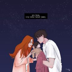 Lilly Evans & James Potter 💕 With baby Harry 🥺 Arte Do Harry Potter, Harry Potter Marauders, Harry Potter Ships, Harry Potter Anime, Harry Potter Quotes, Harry Potter Books, Harry Potter Love, Harry Potter Universal, Harry Potter World