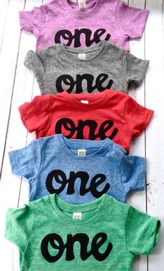 New script one -SALE Colors- red, blue, grey, mint, purple- boys 1st birthday shirt with navy one kids birthday theme first party