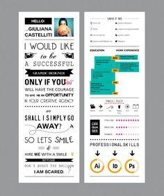Very creative Curriculum Vitae by Giuliana Castelliti, via Behance Cv Original Design, Cv Digital, Conception Cv, Best Cv, Cv Simple, Mises En Page Design Graphique, Cv Curriculum Vitae, Cv Inspiration, Visual Resume