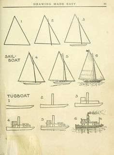 """Today's Drawing Class 101: Featuring lessons from the 1921 vintage book """"Drawing made easy : a helpful book for young artists"""" by E Lutz  :"""