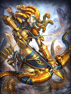 Smite Medusa gold by Brolo on DeviantArt