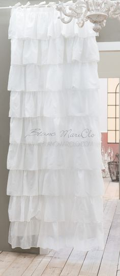 Tenda Shabby chic Fru Fru Collection Blanc Mariclo 150 x 300 cm ...