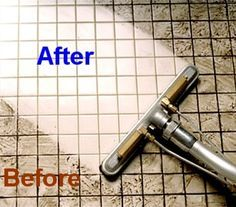 Grout-Regular spraying with lemon juice, vinegar or alcohol keeps mold and mildew at bay. to clean, use 7 cups water, 1/2 cup baking soda, 1/3 cup lemon juice and 1/4 cup vinegar - throw in a spray bottle and spray your floor, let it sit for a minute or two… then scrub