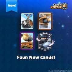 NEW CARDS: Skeleton Trap, Flying Machine, Cannon Cart and Mega Knight___~~~