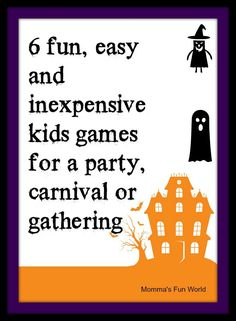 mommau0027s fun world fun games for kids halloween party