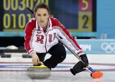 DAY 9:  Anna Sidorova of Russia competes during during the Curling Women's Round Robin Session 9 - Canada vs. Russia http://sports.yahoo.com/olympics