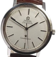 Omega Constellation Stainless Steel & Leather Automatic 36mm Men's Watch