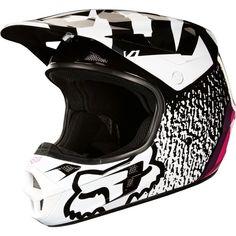 6004b268f Fox Racing V1 Halyn Womens DOT Dirt Bike Off Road Motocross Helmets  FOX Fox  Motocross