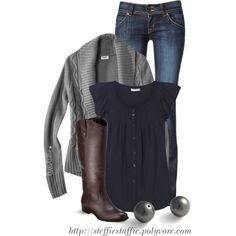 Casual Navy & Gray, created by steffiestaffie on Polyvore