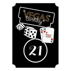 Vegas Lights 21st Birthday Party Invitation Bash Invitations