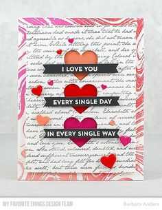 """My Favorite Things - MARBLE BACKGROUND - Rubber Stamp Our rubber background stamps measure 5 ¾"""" x 5 ¾"""" – perfect for square cards or cards in either a vertic Diy Valentines Cards, Love Valentines, Valentine Crafts, Valentine Theme, Tarjetas Diy, Ideas Hogar, Mft Stamps, Diy Gifts For Boyfriend, Square Card"""
