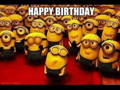Minions wishing happy birthday  - amazing video - YouTube Minions Love, My Minion, Minion Rush, Shit Happens, Despicable Me Funny, Despicable Me Party, Awkward Moments, Funny Moments, Funny Things