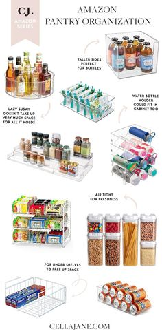 I'm always looking for ways to keep my house organized and I'm working on clearing up some space in my pantry. Not only does it make meal preparing easier, it also makes it easier to see what we… Small Pantry Organization, Home Organisation, Diy Kitchen Storage, Apartment Kitchen Organization, Organized Pantry, House Organization Ideas, Pantry Ideas, Home Organizer Ideas, Organised Kitchen Diy