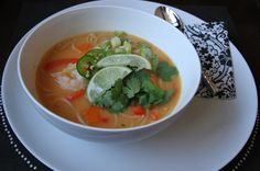 Coconut Curry Soup {satisfymysweettooth.com}{