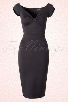 Vintage Chic Scuba Dress Black 100 10 15836 20150609 005W