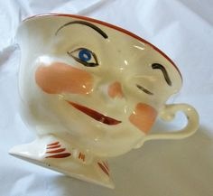 Vintage china cup  winking eye cup  coffee cup  by NewtoUVintage