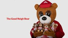 In State Farm agents started giving away Good Neigh Bear stuffed animals to customers, and it became a full-size costume in The Good Neigh Bear is mostly in hibernation now, but it used to make regular appearances at community events. State Farm Insurance, Community Events, Giving, Teddy Bear, Stuffed Animals, Toys, Costume, Activity Toys, Clearance Toys