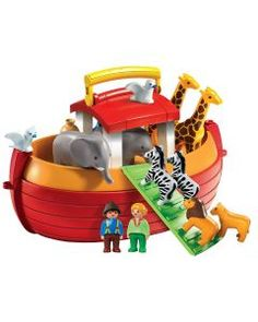 Playmobil My Take Along Noah´s Ark, Multicolor Collection Playmobil, Combs La Ville, Playmobil Toys, Pokemon, Lion And Lioness, Baby Shower Niño, Storage Sets, Floating In Water, Preschool Toys