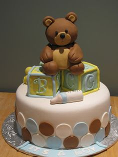 Ann Marie's Creative Cakes: Teady Bear Baby Shower Cake