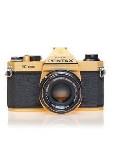 Gold Pentax K1000 SLR Camera