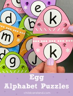 Egg alphabet puzzles for letter recognition and review. Alphabet For Kids, Alphabet Activities, Classroom Activities, Early Learning Activities, Activities For Kids, Preschool Ideas, Teaching Resources, Letter Recognition Kindergarten, Tracing Letters