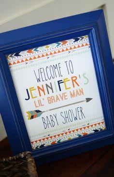 Tribal Little Brave Man themed baby shower via Kara's Party Ideas KarasPartyIdeas.com #tribalbabyshower (9)