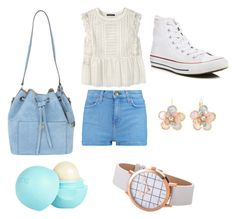 """""""Friends✌"""" by ferponm on Polyvore featuring Current/Elliott, Violeta by Mango, Converse, Michael Kors, River Island and Mixit"""