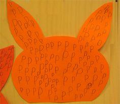 P niin kuin pupu. Suuraakkosten harjoittelua Preschool, Letters, Teaching, Image, Education, Kid Garden, Letter, Kindergarten, Lettering