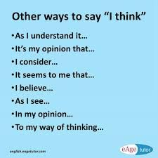 Image result for other ways to say I think pictures
