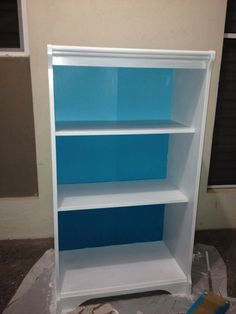 Blue Color Pallete Painted Bookshelf Jamaican Sea Jewel And Teal