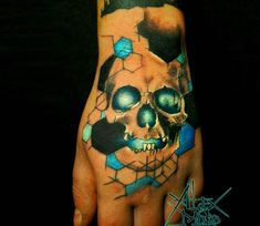 Skull tattoo by Sanek Tattoo