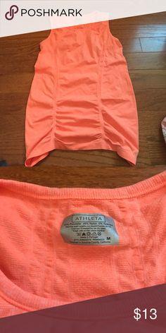 Amazing Athleta workout top Bright orange.  Sleeveless. Athleta Tops
