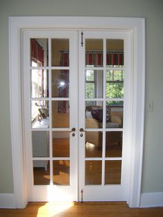 Turn our formal living into a study with french doors for Small french doors