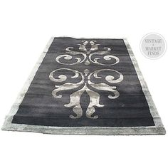 One Kings Lane - Vintage + Market Finds - Rococo Rug, 8' x 5' ($479) ❤ liked on Polyvore featuring home and rugs