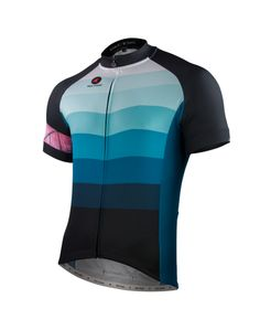 """The Pactimo artist series has some fantastic jerseys this year  """"Cascade"""" Cycling Jersey by Leif Kruse Men's"""