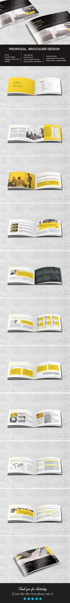 Get this Clean Proposal Brochure Design , suitable for any type of business, You can use it for several activities: business, corporate, construction, medical, marketing, travel, mobile app, photography, real estate, etc.
